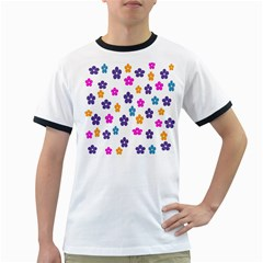 Candy Flowers Ringer T-Shirts