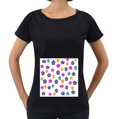 Candy Flowers Women s Loose-Fit T-Shirt (Black)