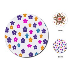 Candy Flowers Playing Cards (round)
