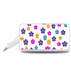 Candy Flowers Portable Speaker (White)