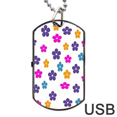 Candy Flowers Dog Tag USB Flash (Two Sides)