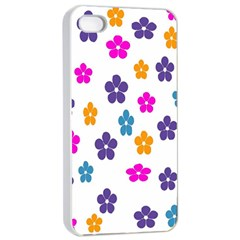Candy Flowers Apple iPhone 4/4s Seamless Case (White)