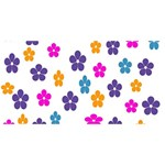 Candy Flowers ENGAGED 3D Greeting Card (8x4)  Back