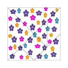 Candy Flowers Acrylic Tangram Puzzle (6  X 6 )