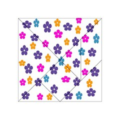 Candy Flowers Acrylic Tangram Puzzle (4  X 4 )
