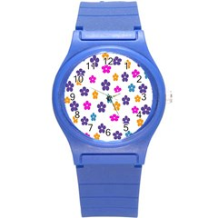 Candy Flowers Round Plastic Sport Watch (s)