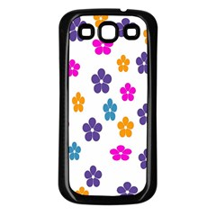 Candy Flowers Samsung Galaxy S3 Back Case (black)