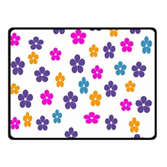 Candy Flowers Double Sided Fleece Blanket (Small)