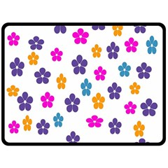 Candy Flowers Double Sided Fleece Blanket (Large)