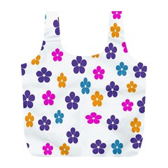 Candy Flowers Full Print Recycle Bags (l)