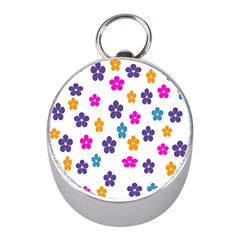 Candy Flowers Mini Silver Compasses