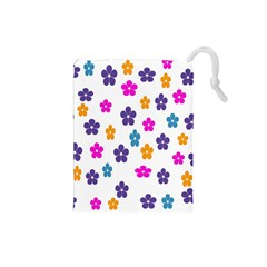 Candy Flowers Drawstring Pouches (Small)