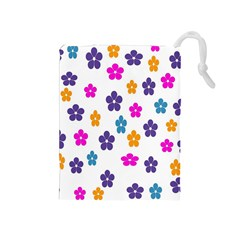 Candy Flowers Drawstring Pouches (medium)