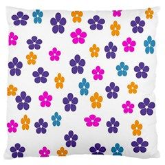 Candy Flowers Large Flano Cushion Cases (One Side)