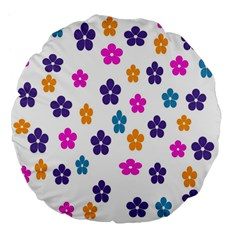 Candy Flowers Large 18  Premium Flano Round Cushions