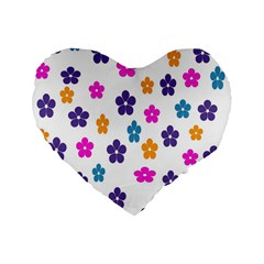 Candy Flowers Standard 16  Premium Flano Heart Shape Cushions