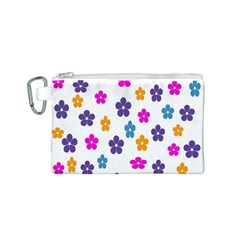 Candy Flowers Canvas Cosmetic Bag (S)