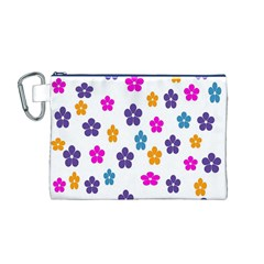 Candy Flowers Canvas Cosmetic Bag (M)
