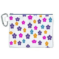 Candy Flowers Canvas Cosmetic Bag (XL)