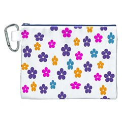 Candy Flowers Canvas Cosmetic Bag (XXL)