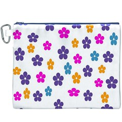 Candy Flowers Canvas Cosmetic Bag (XXXL)