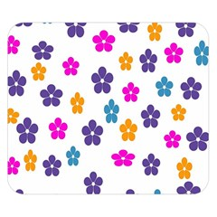 Candy Flowers Double Sided Flano Blanket (Small)