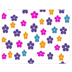Candy Flowers Double Sided Flano Blanket (medium)