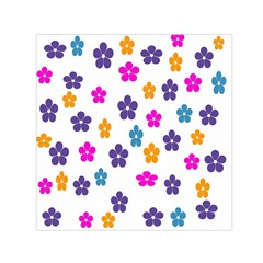 Candy Flowers Small Satin Scarf (square)