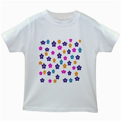 Candy Flowers Kids White T-Shirts