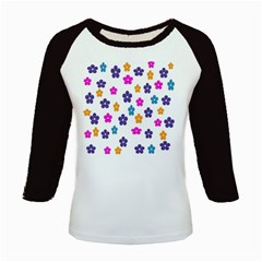 Candy Flowers Kids Baseball Jerseys