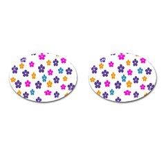 Candy Flowers Cufflinks (oval)