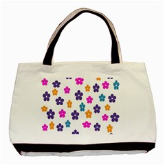 Candy Flowers Basic Tote Bag