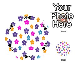 Candy Flowers Playing Cards 54 (Round)