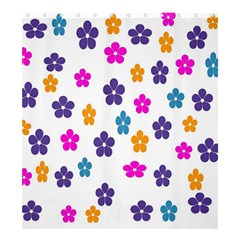 Candy Flowers Shower Curtain 66  x 72  (Large)