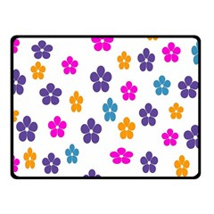 Candy Flowers Fleece Blanket (small)