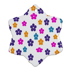 Candy Flowers Snowflake Ornament (2 Side)