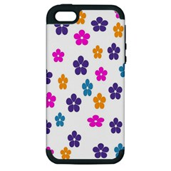 Candy Flowers Apple Iphone 5 Hardshell Case (pc+silicone)