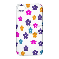 Candy Flowers Apple Iphone 4/4s Hardshell Case With Stand