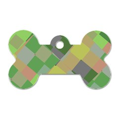 Squares And Other Shapes Dog Tag Bone (two Sides)