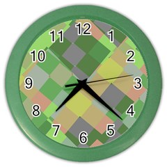 Squares And Other Shapes Color Wall Clock