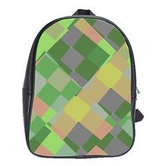 Squares And Other Shapes School Bag (large)