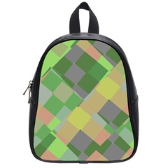 Squares And Other Shapes School Bag (small)