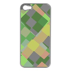 Squares And Other Shapes Apple Iphone 5 Case (silver)