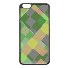 Squares and other shapes Apple iPhone 6 Plus Black Enamel Case