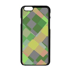 Squares And Other Shapes Apple Iphone 6 Black Enamel Case
