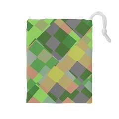 Squares and other shapes Drawstring Pouch