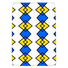Blue Yellow Rhombus Pattern Removable Flap Cover (l)