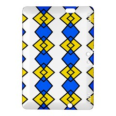Blue yellow rhombus pattern Kindle Fire HDX 8.9  Hardshell Case