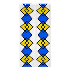 Blue Yellow Rhombus Pattern	shower Curtain 36  X 72