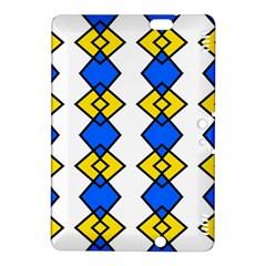 Blue yellow rhombus patternKindle Fire HDX 8.9  Hardshell Case